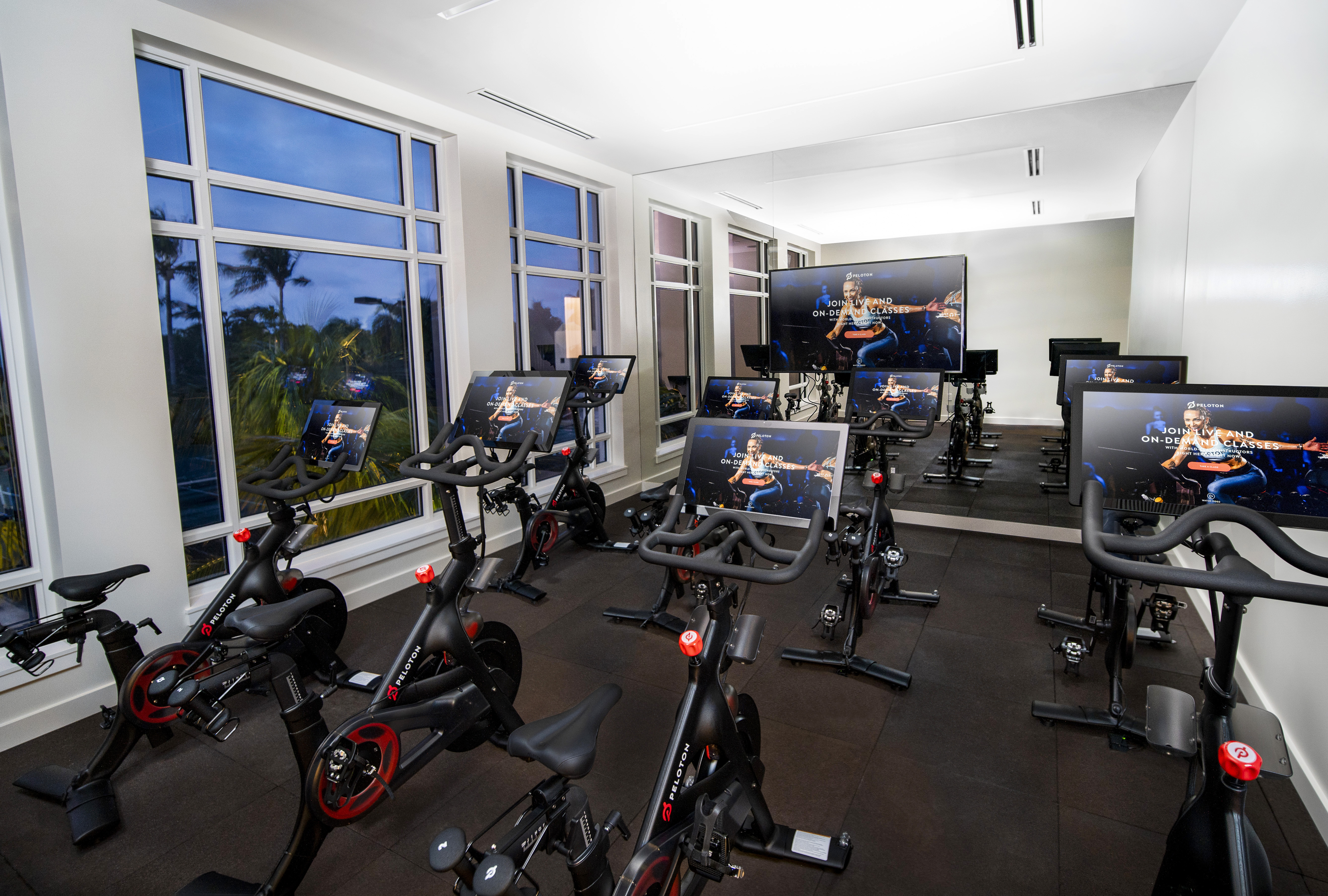 Peloton Bike Spinning Studio at Addison Reserve in Florida