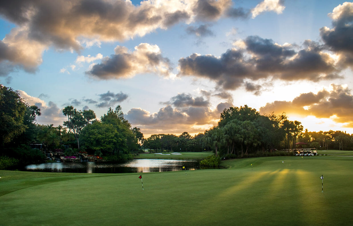 Overview of golf course at Addison Reserve in Florida